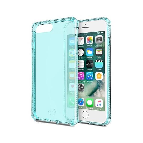 ITSKINS Antishock Gel Case Cover til iPhone 7plus / 8plus -  Gennemsigtig-Grøn