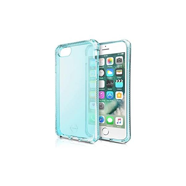 ITSKINS Antishock Gel Case Cover til iPhone 6 / 6s / 7 / 8 -  Gennemsigtig-Blå