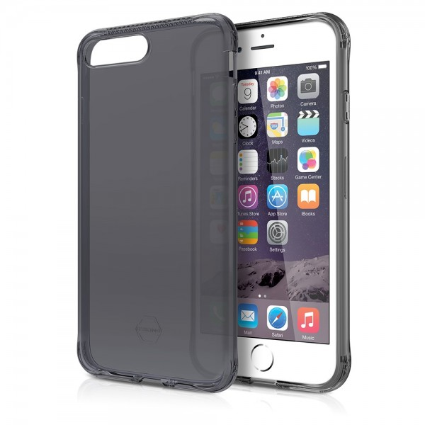 ITSKINS Antishock Gel Case Cover til iPhone 7plus / 8plus -  Gennemsigtig-Grå