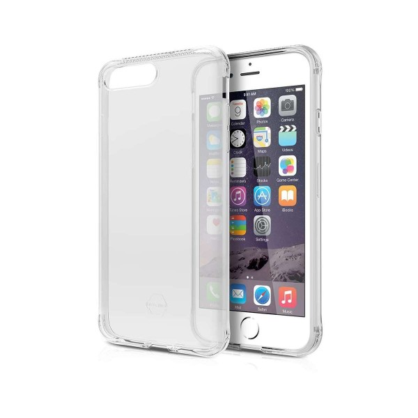ITSKINS Antishock Gel Case Cover til iPhone 6plus / 7plus / 8plus -  Gennemsigtig
