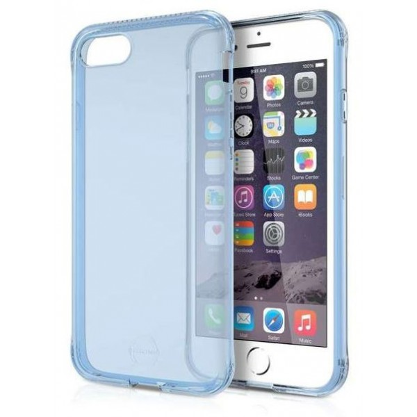 ITSKINS Antishock Gel Case Cover til iPhone 6plus / 7plus / 8plus -  Gennemsigtig-Blå