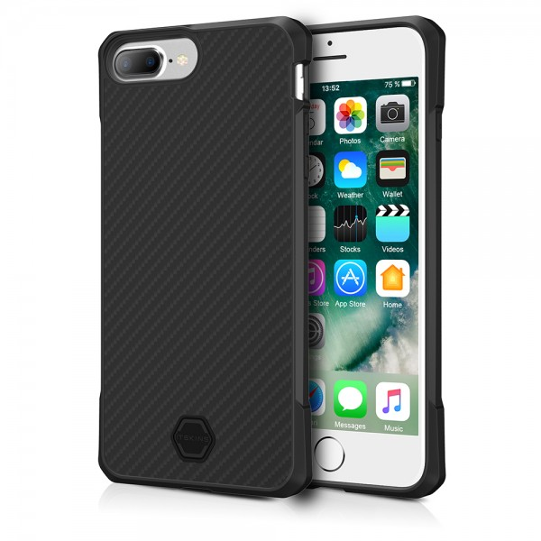 ITSKINS Antishock Carbon Case Cover til 7plus / 8plus -  Sort