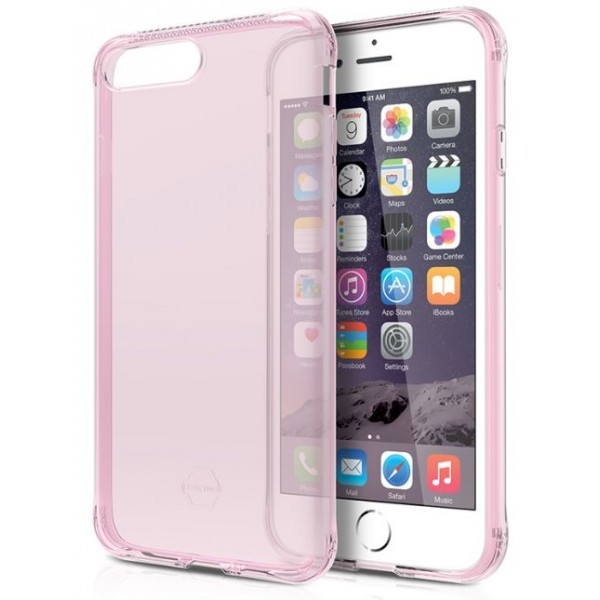 ITSKINS Antishock Gel Case Cover til iPhone 6plus / 7plus / 8plus -  Gennemsigtig-Pink