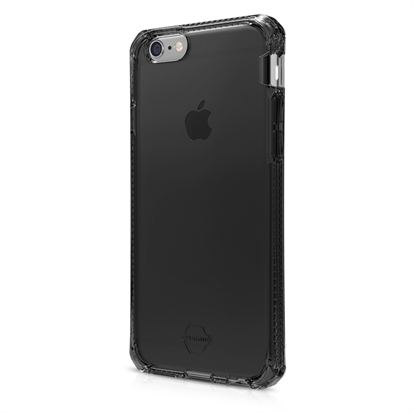 ITSKINS Antishock Gel Case Cover til iPhone  6plus / 7plus / 8plus -  Gennemsigtig-Mørkgrå