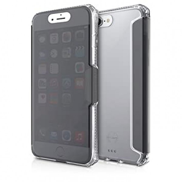 ITSKINS Antishock Gel Folio Cover Etui til iPhone 7 Plus / 8 Plus -  Gennemsigtig