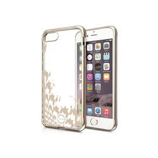ITSKINS Antishock Art Gel Case Cover til iPhone SE(2.Gen) / 7 / 8 -  Gennemsigtig med Guld dekoration