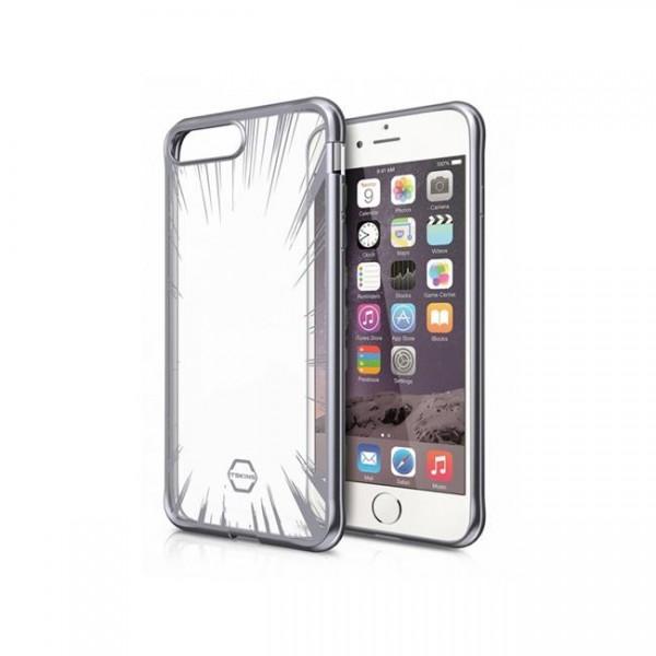 ITSKINS Antishock Art Gel Cover til iPhone SE(2.Gen) / 7 / 8 -  Gennemsigtig med Sølv dekoration