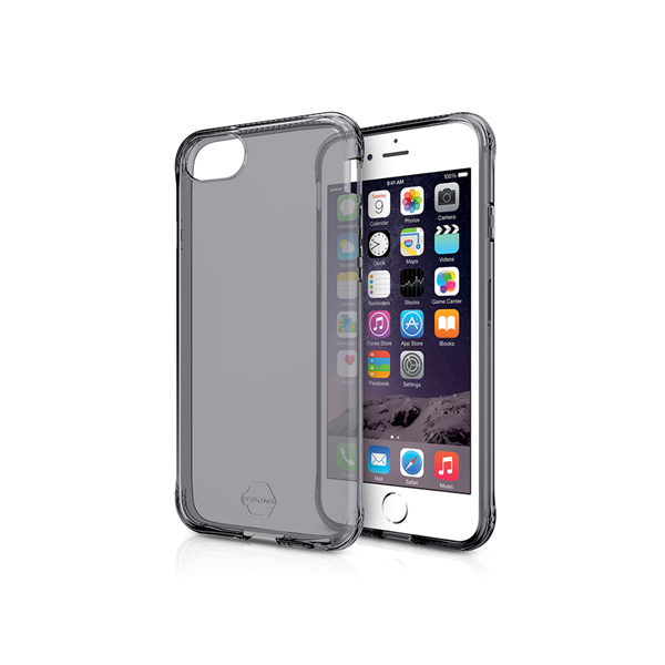 ITSKINS Antishock Gel Cover til iPhone SE(2.Gen) / 6S / 7 / 8 -  Gennemsigtig Grå