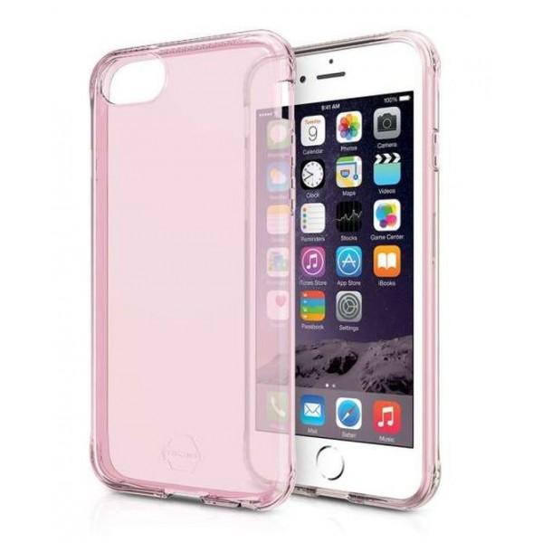 ITSKINS Antishock Gel Cover til iPhone SE(2.Gen) / 6S / 7 / 8 -  Gennemsigtig Pink