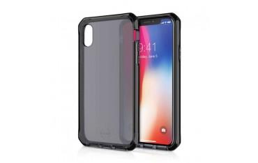 ITSKINS SUPREME Silikone Cover til iPhone X / XS - Gennemsigtig Mørkegrå