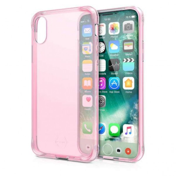 ITSKINS Nanogel Cover til iPhone X / XI -  Gennemsigtig Pink