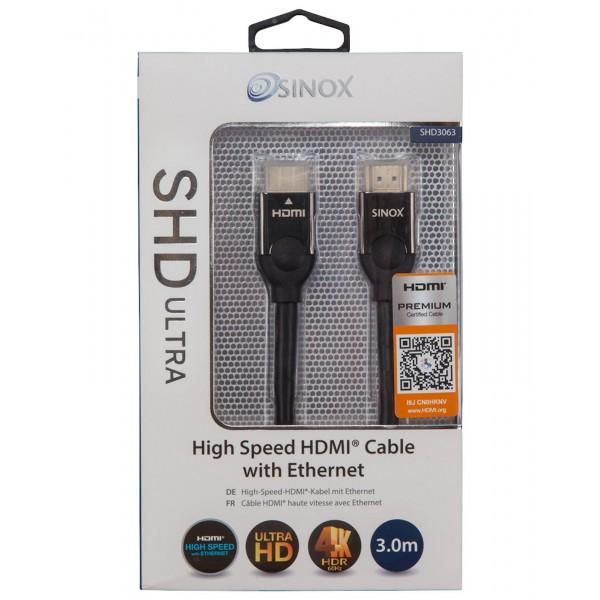 SINOX Høj Hastighed HDMI Kabel med Ethernet