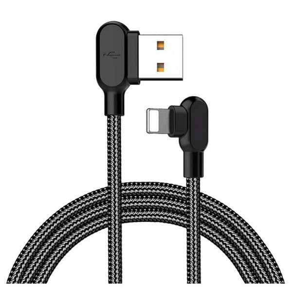 Vinklet Lightning USB Kabel