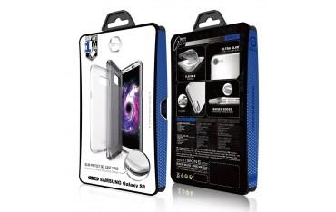 ITSKINS Slim Protect Gel Cover til Samsung Galaxy S8 2-pak - Gennemsigtig og Grå