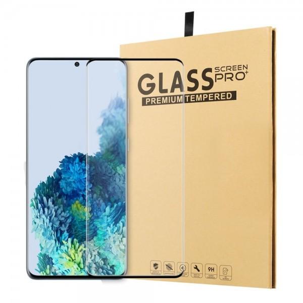Samsung Galaxy S20 Ultra - Ultraklar hærdet beskyttelsesglas m/komplet dækning