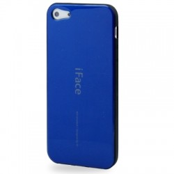 iFace TPU Cover til iPhone 5 & 5S - Blå