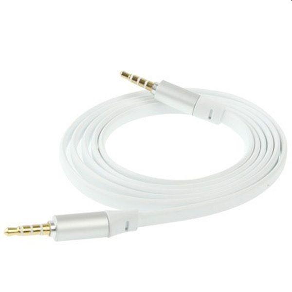 3.5mm Male til Female Stereo Audio Øretelefoner Aux Forlængerkabel - 1m - Hvid