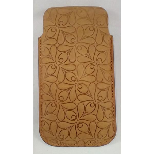 PREMIUM Læder Sleeve med Trykt Mønster til iPhone 5 / 5S / SE- Sort