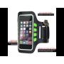 iPhone 6 Plus / 6S Plus / 7 Plus / 8 Plus / XS Max SINOX Smart Løbearmbånd med LED Lys - Sort