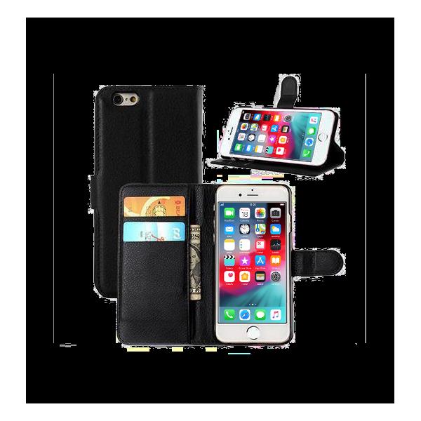 Universal Book Case Etui til iPhone 6 / 6S - Sort