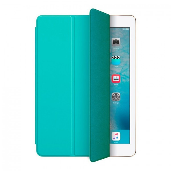 Apple iPad Air 2 Tri-Fold Stand Smart Folio PU Læder Cover Grøn