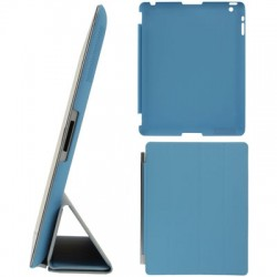 4-fold Slim Smart Etui Companion Cover til iPad 4 / new iPad (iPad 3) / iPad 2 (Blå)