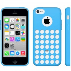 Hollow Dot TPU Cover til iPhone 5C - Blå