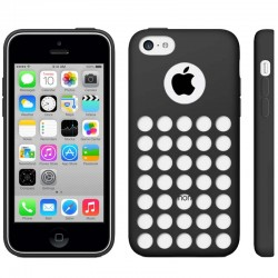 Hollow Dot TPU Cover til iPhone 5C - Sort