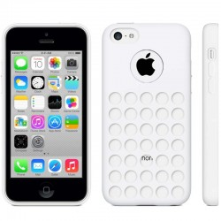 Hollow Dot TPU Cover til iPhone 5C - Hvid