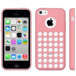 Hollow Dot TPU Cover til iPhone 5C - Pink