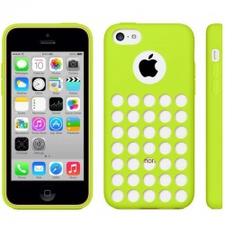 Hollow Dot TPU Cover til iPhone 5C - Grøn