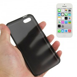 0.3 mm Ultra Tynd Plast Cover til iPhone 5C - Sort