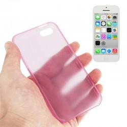 0.3 mm Ultra Tynd Plast Cover til iPhone 5C - Pink