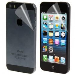 Høj kvalitet 2 i 1 (Front+Bag) Klar LCD Skærmbeskyttelse til iPhone 5S (Japan Concept)