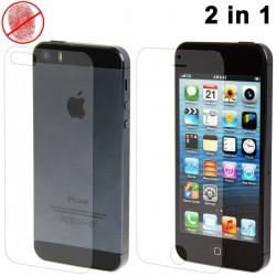 Høj kvalitet 2 i 1 (Front+Bag) Anti-Glare LCD Skærmbeskyttelse til iPhone 5S (Japan Concept)