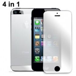 Spejl LCD Skærmbeskyttelse 4 i 1 (front+bag+øverst & nederst baglens) til iPhone 5 (Japan Concept)
