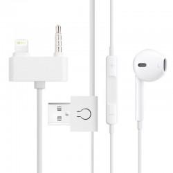 EarPods med Control-talk / Mikrofon & USB Sync Kabel til iPhone 5 & 5C & 5S / 1.5m (White)