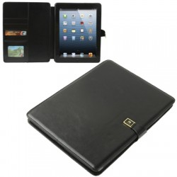 "High Quality ""Crazy Horse"" mønstre flip læder etiu med holder & kort lomme til iPad 4 / iPad 3 / iPad 2 (Sort)"