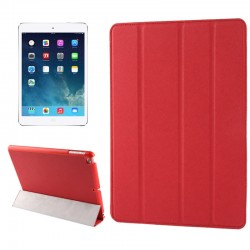 Belk Series 4-folding Slim Smart Cover med Sleep & Wake-up Funktion til iPad Air (Rød)