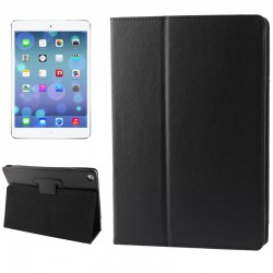 Litchi Texture Flip Leather Case with Holder for iPad Air ( Sort )