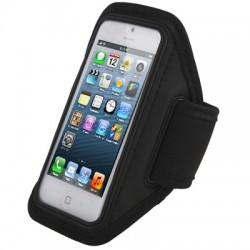 Sport armbånd etiu med øretelefon adgang til iPhone 5S / 5C / 5 / 4S / 4  (Sort)