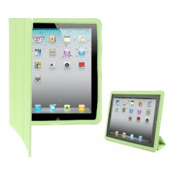 Leather Case with Ultra Thin Smart Cover for iPad 2 (Light Green)