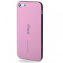 iFace TPU Cover til iPhone 5 & 5S - Pink
