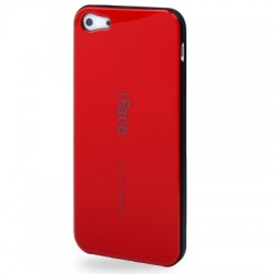 iFace TPU Cover til iPhone 5 & 5S - Rød