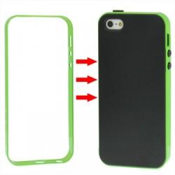 TPU Cover + Plastik Bumper Frame & Skærm beskyttelse til iPhone 5 & 5S (Grøn)