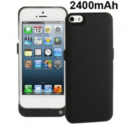 2400mAh External Battery / Power Bank til iPhone 5 / 5S ( Sort )