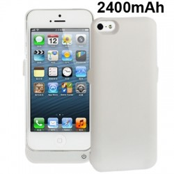2400mAh External Battery / Power Bank til iPhone 5 / 5S ( Hvid )
