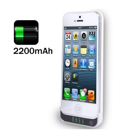 I5-2200, 2200mAh Extant Battery / Power Bank til iPhone 5S / iPhone 5 / iPod Touch 5 (Hvid)