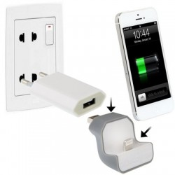 Mini Wall Plug-in Charging iDock for iPhone 5 / iPod touch 5