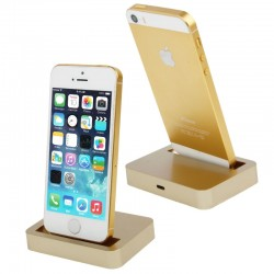 8 Pin Charging Dock for iPhone 5 & 5S & 5C  / iPod touch 5 ( Guld )